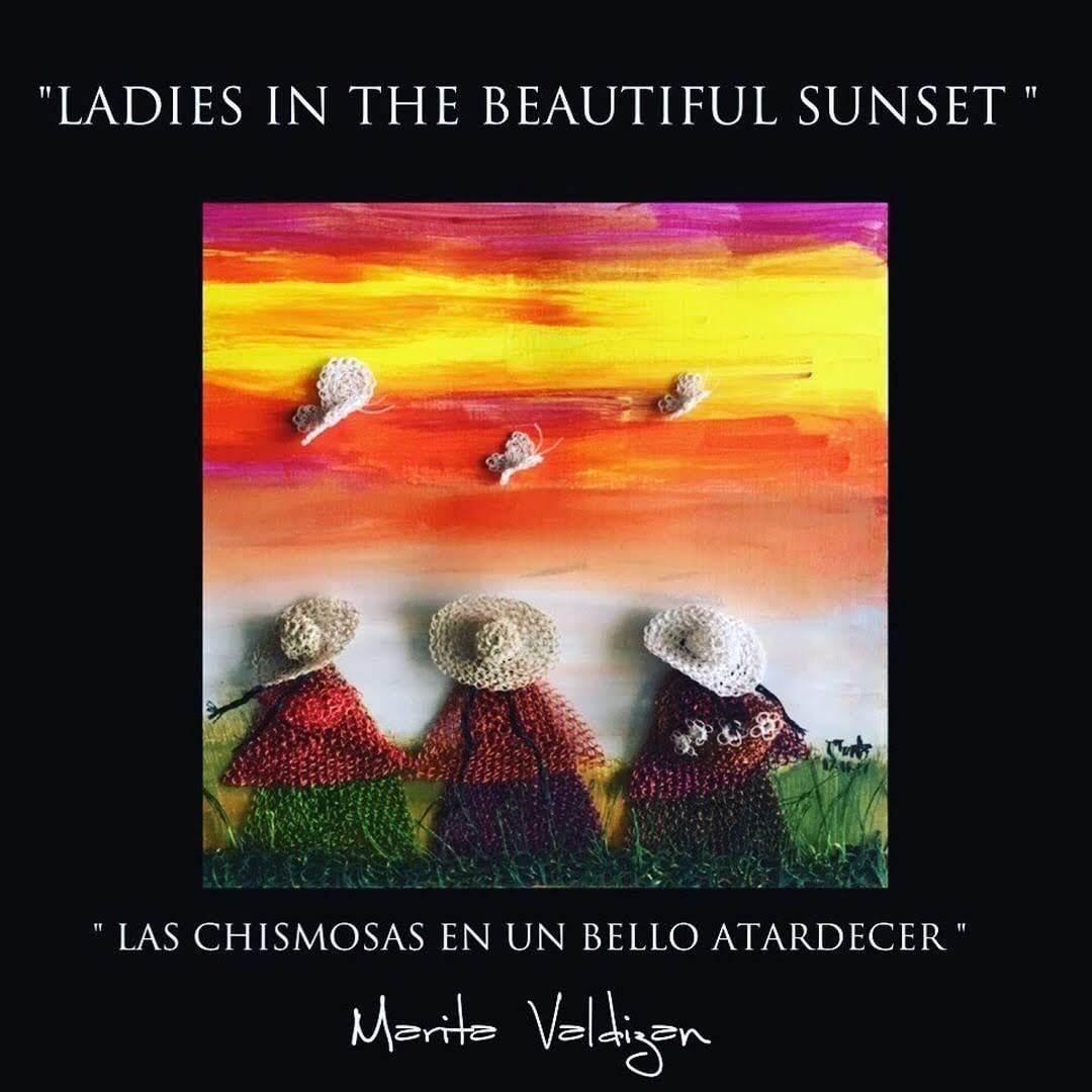 LADIES IN THE BEAUTIFUL SUNSET